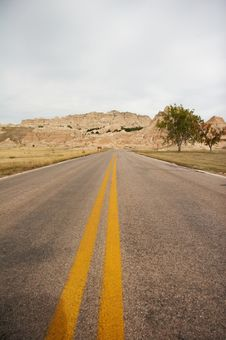 Free Road In Badlands National Park Stock Photos - 1454193