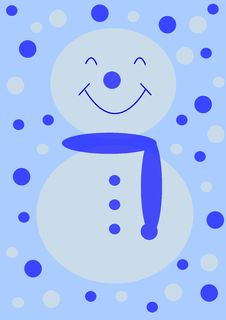 Free Christmas - Simple Snow Man Royalty Free Stock Image - 1454376
