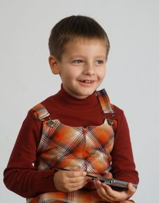 Free Boy With Pocket PC Stock Photo - 1455250