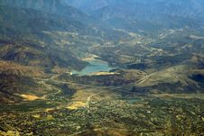 Reservoir In Mountain Area Stock Image