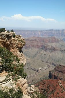 Free Grand Canyon Overlook With People On Ledge Stock Images - 1456034
