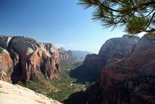 Free Angel S Landing Summit View Royalty Free Stock Images - 1456049