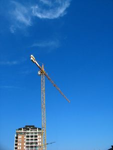 Free Crane Working Royalty Free Stock Photography - 1456587