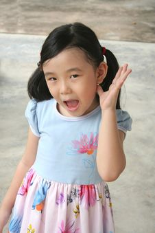 Girl Surprised & Shocked Royalty Free Stock Photography