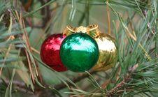 Free Christmas Bulbs Stock Image - 1458161