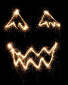 Halloween Sparkler Stock Image