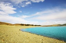 Blue Lake Tekapo Royalty Free Stock Photo