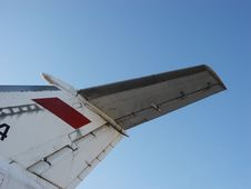 Tail Of The Plane Royalty Free Stock Photo