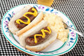 Free Bratwurst On A Bun Stock Photo - 14501330