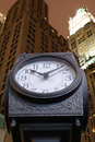 Free City Clock And Skyscrapers Stock Photography - 14503052