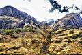 Free View Of Mountain Range Above Scotch Mountain Royalty Free Stock Image - 14503426