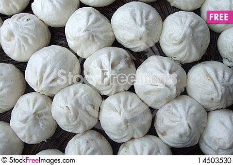 Chinese meat bun Stock Photo