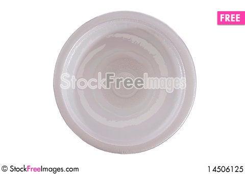 Styrofoam bowl Stock Photo