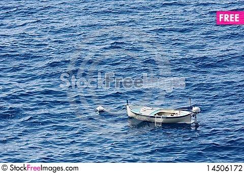 Fishing boat at anchor Stock Photo