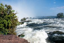 Free The Edge Of Victoria Falls Stock Photo - 14500360