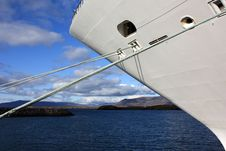 Cruise Ship Docked In Iceland Stock Photography