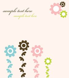 Free Floral Designed Card Stock Photography - 14501432