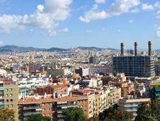 Free Barcelona View Stock Photography - 14501582