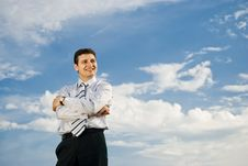 Free Young Smiling Businessman Stock Photo - 14501690