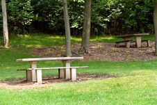Free Picnic Tables Royalty Free Stock Photos - 14501718