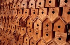 Free Bird Houses Royalty Free Stock Photo - 14502105