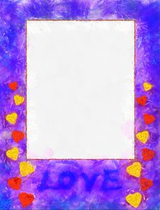 Free Illustration, Frame With Hearts Stock Photography - 14502382