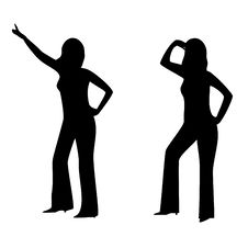 Free Woman S Silhouettes Stock Photos - 14502903
