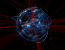 Free Abstract Blue Globe Stock Image - 14502971