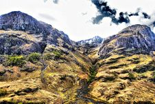 View Of Mountain Range Above Scotch Mountain Royalty Free Stock Image