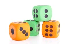 Free Colorful Dice Stock Image - 14503581