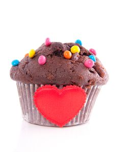 Free Lovely Chocolate Muffin Royalty Free Stock Image - 14503626