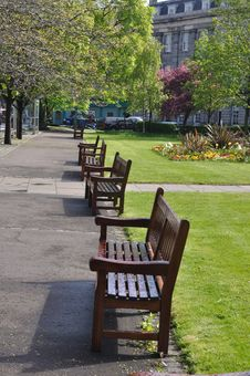 Free Row Of Empty Bench Stock Image - 14503671