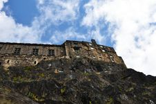 Castle Of Edinburgh From Garden Stock Photography