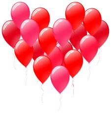 Free Balloons Heart Royalty Free Stock Images - 14504319