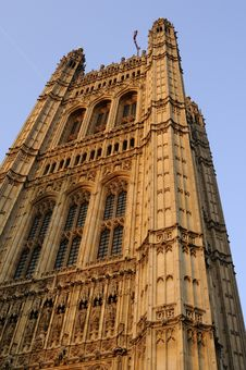 Exterior Of Houses Of Parliament Royalty Free Stock Photo