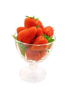 Free Strawberries In A Glass Stock Photography - 14504722