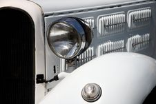 Free Headlight In White Vintage Car Stock Photography - 14505182