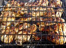 Grilled Chicken Legs Stock Photography