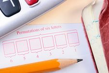 Free Permutations Of Six Letters Royalty Free Stock Photo - 14506555