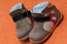 Child Shoes Royalty Free Stock Image