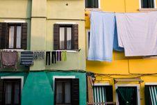 Free Colorful Houses Venice (Veneto) - Laundry Stock Photos - 14507583