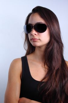 Free Girl With Sunglasses Stock Photos - 14507663