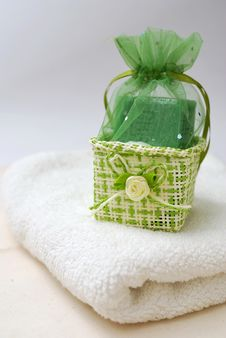 Spa Soap And Towel Royalty Free Stock Image