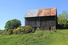 Free Old Wood Barn With Roses Stock Photos - 14509163
