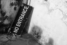 Free No Entrance Banner Stock Images - 14509854