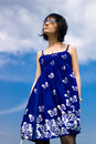 Free Summer Girl On A Background Of Sky Royalty Free Stock Photo - 14511465