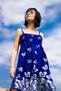 Free Summer Girl On A Background Of Sky Royalty Free Stock Images - 14511489