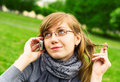 Free The Girl Speaks By Phone Royalty Free Stock Image - 14511606