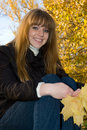 Free Young Girl In Autumn Park Stock Photos - 14513473