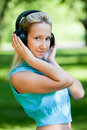 Free Girl With Headphones Stock Images - 14514954